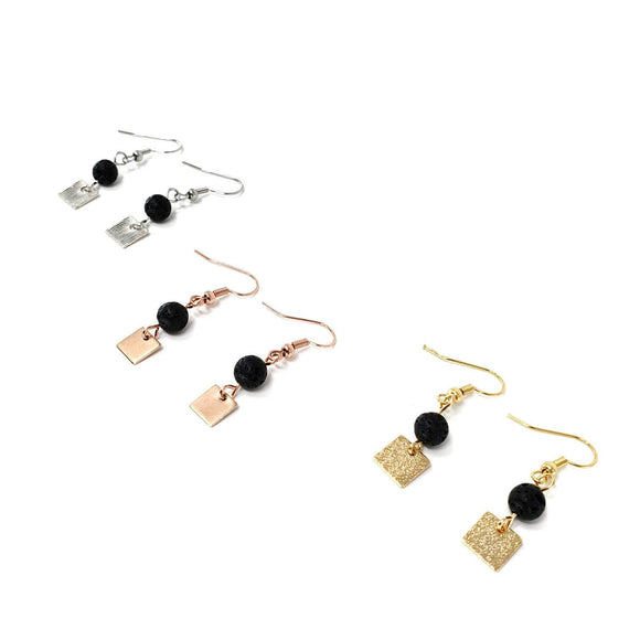 Minimalist Lava Diffuser Earrings
