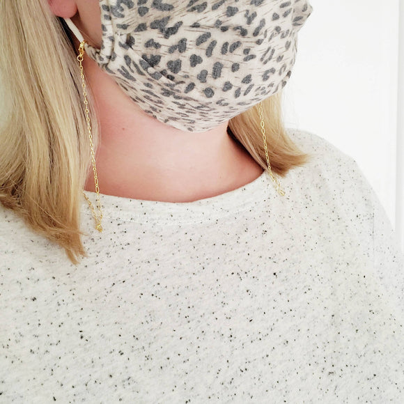 Dainty Gold Chain Mask Holder