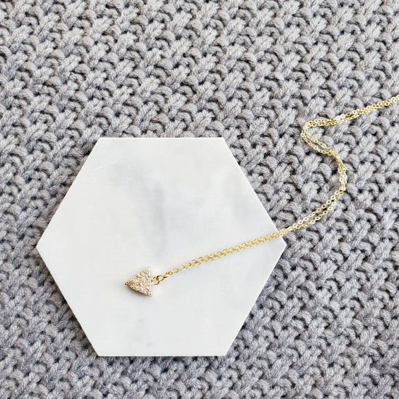 Triangle Druzy Dainty Necklace