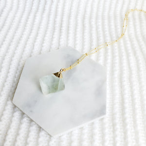 Aqua Fluorite Crystal Necklace