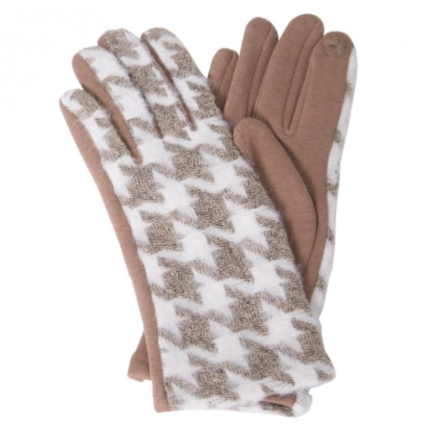 HOUNDSTOOTH TXT GLOVES - GraceHats Gloves Grace Hats - Grace Hats