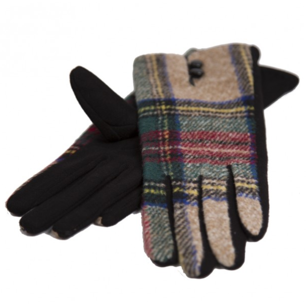 RUBBIE PLAID GLOVES - GraceHats Gloves GraceHats - Grace Hats