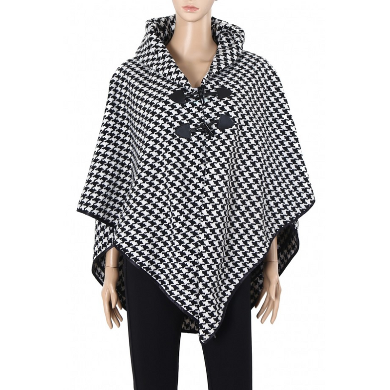 COLLARD HOUNDSTOOTH CAPE - GraceHats Cape GraceHats - Grace Hats