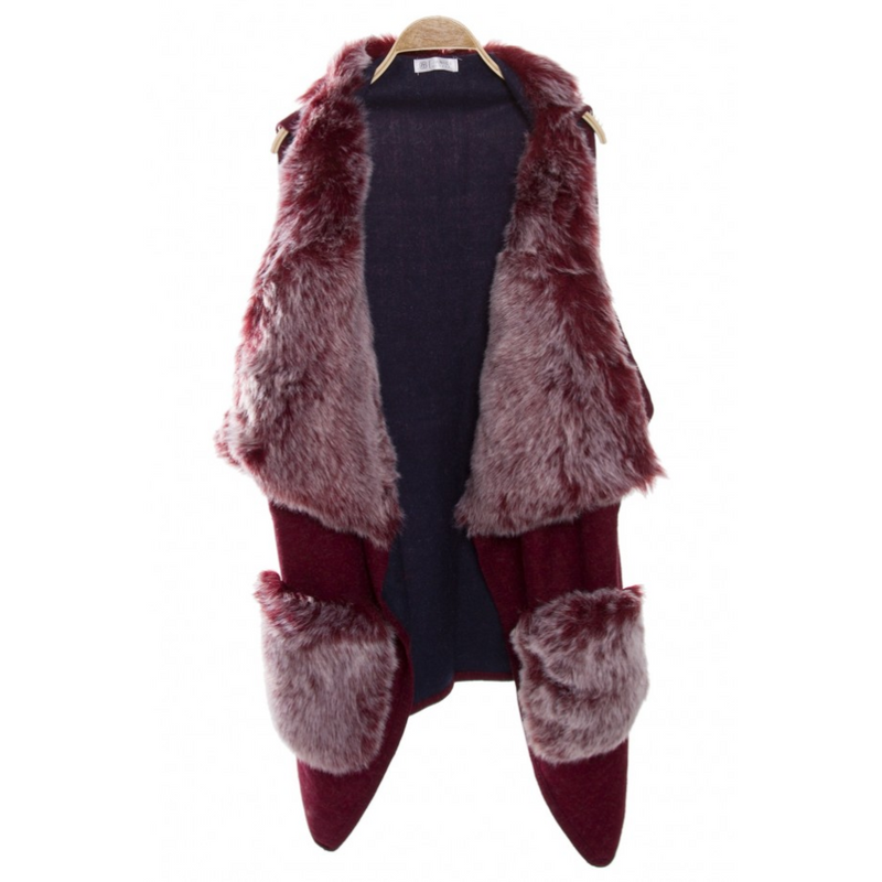 DESERT FUR VEST - GraceHats Cape GraceHats - Grace Hats
