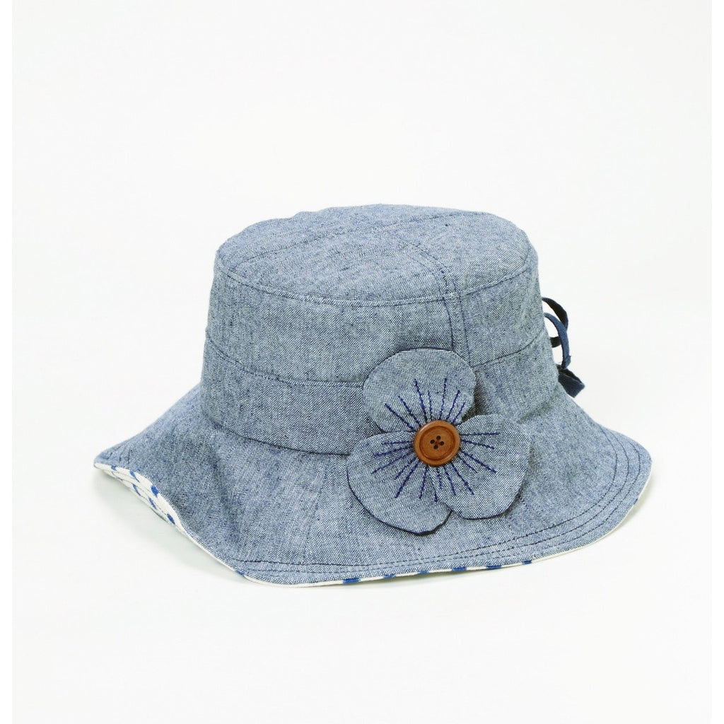 STITCHED FLOWER HAT - GraceHats Hat Grace Hats - Grace Hats