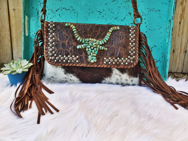 Texas Cattle Baron Clutch - Triangle T Boutique
