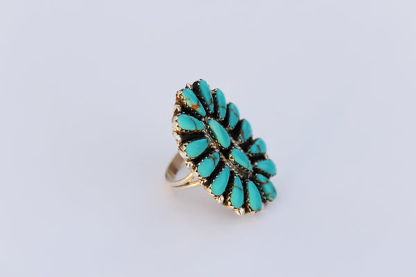 Authentic Turquoise Cluster Ring - Style 2 - Triangle T Boutique