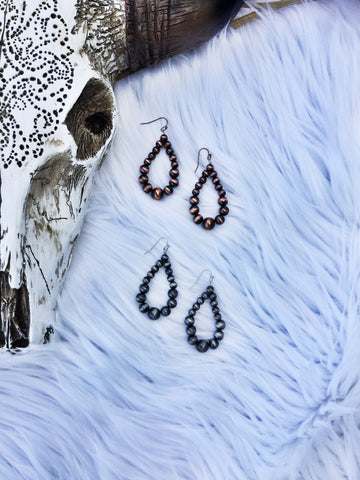 Teardrop Navajo Pearl Earrings - Triangle T Boutique