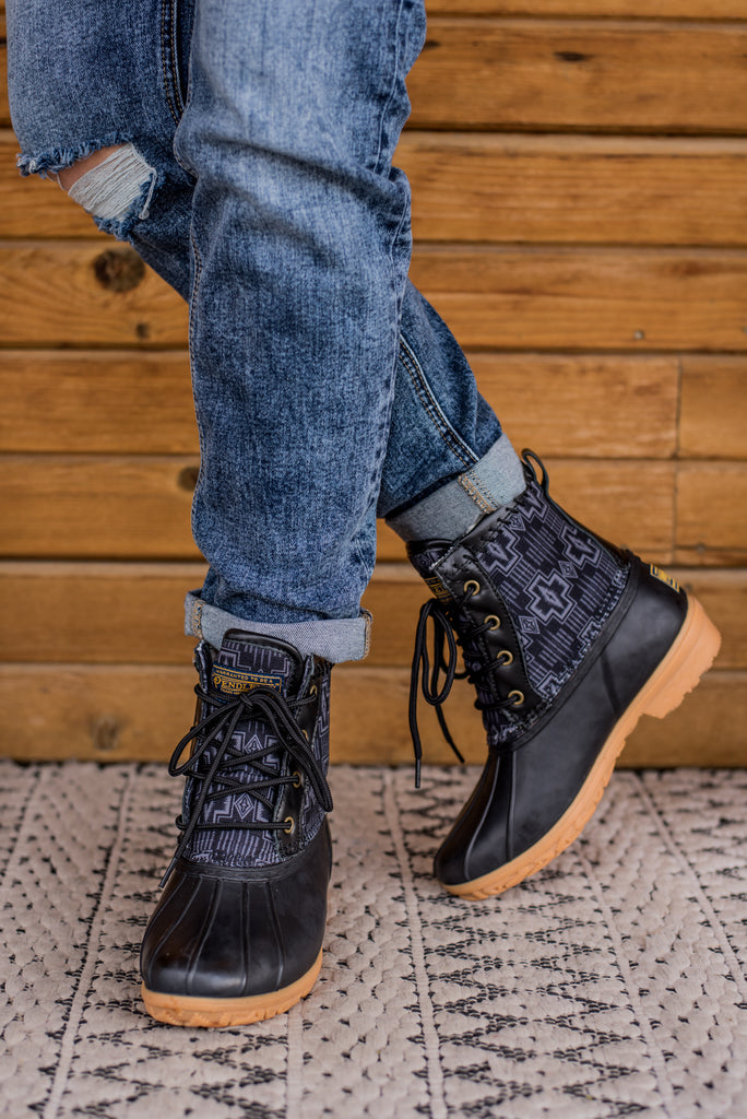 Pendleton Heritage Harding Duck Boot - Black