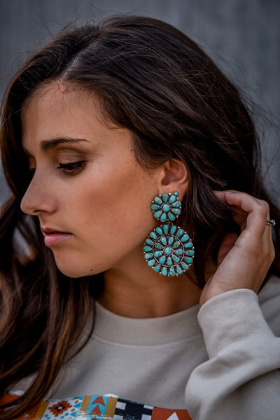 The Camila Large Cluster Earrings