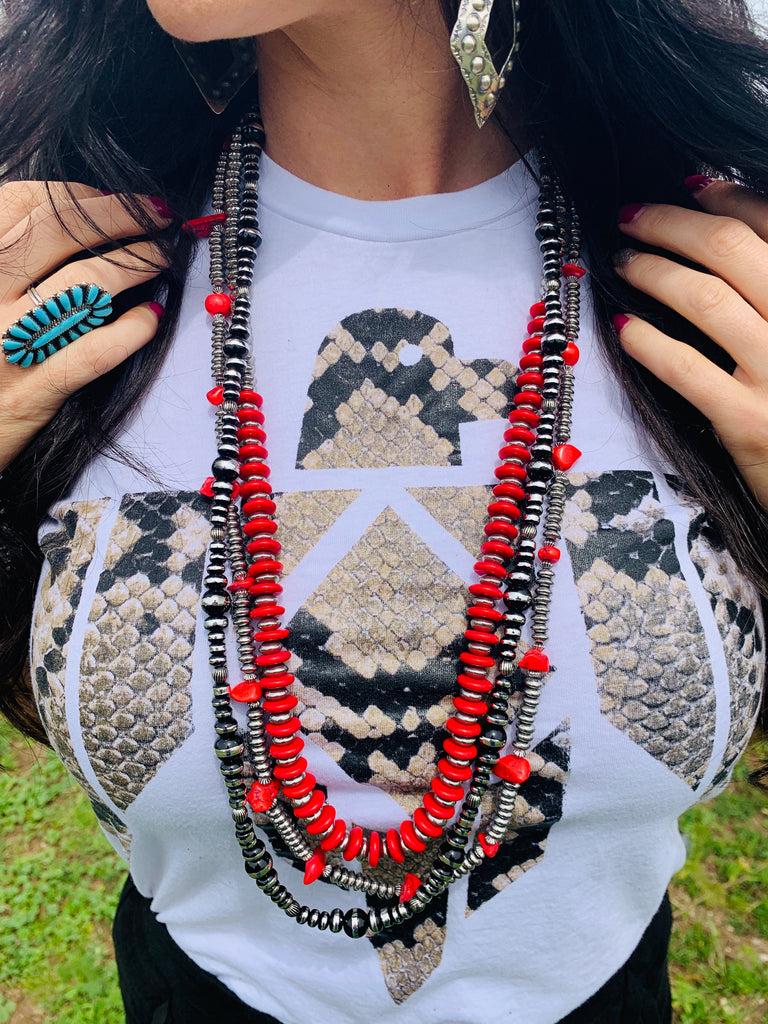 The Indian Paintbrush Necklace Set - Triangle T Boutique