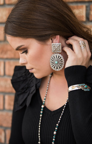 The Lora Sterling Silver & Turquoise Earrings