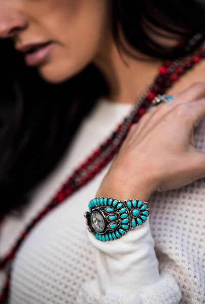 The Time Teller Turquoise Cuff - Triangle T Boutique