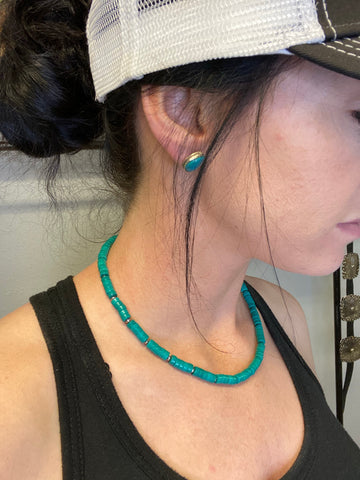 The Owyhee Turquoise Choker - Triangle T Boutique