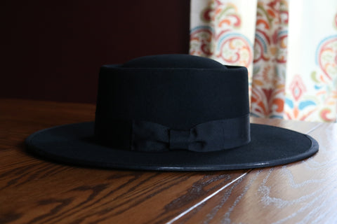 The Maverick Felt Hat - Black