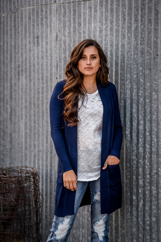 The Harvest Festival Cardigan - Navy