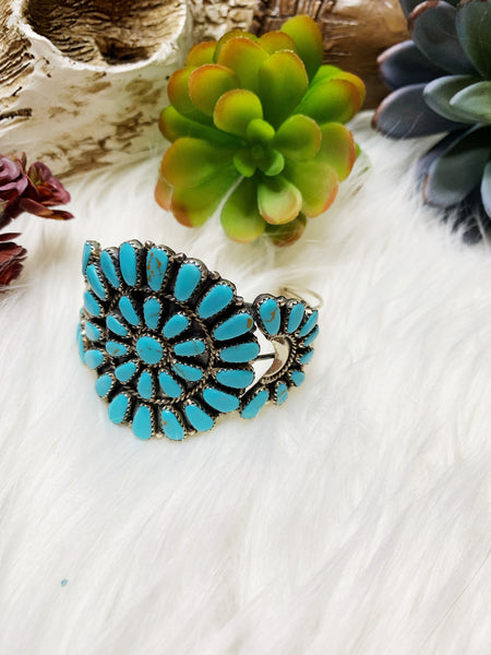 Large Turquoise Cuff - Triangle T Boutique