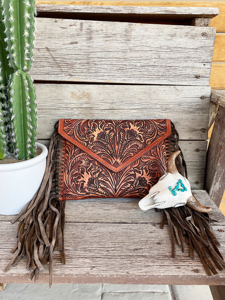 The Reckless Light Brown Fringe Purse