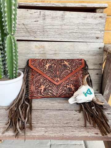 The Reckless Brown Fringe Purse