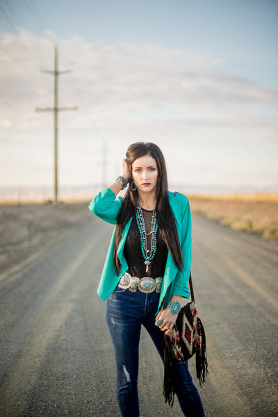 The Cash Turquoise Concho Belt - Triangle T Boutique