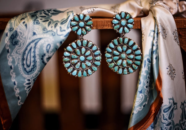 The Camila Large Cluster Earrings - Triangle T Boutique
