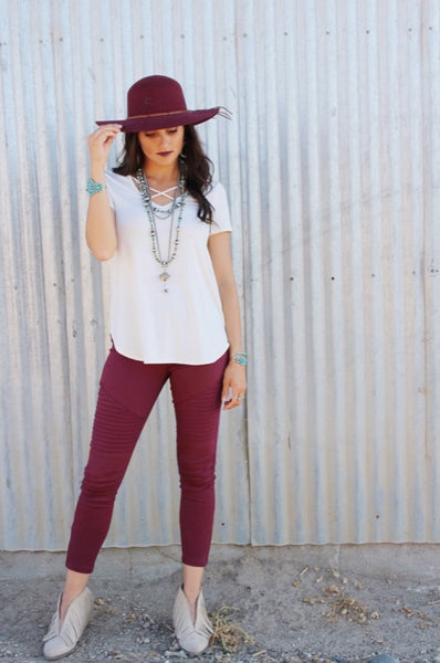 Free Spirit Charlie 1 Horse - Burgundy - Triangle T Boutique