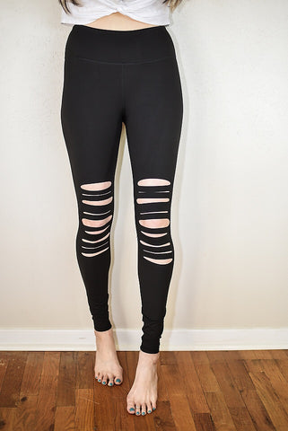 The Cut Out Leggings - Black - Triangle T Boutique