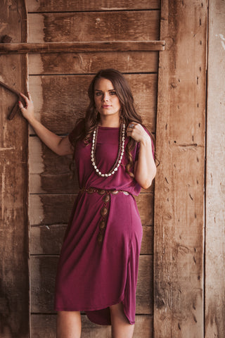 The Babe Maxi Dress - Wine