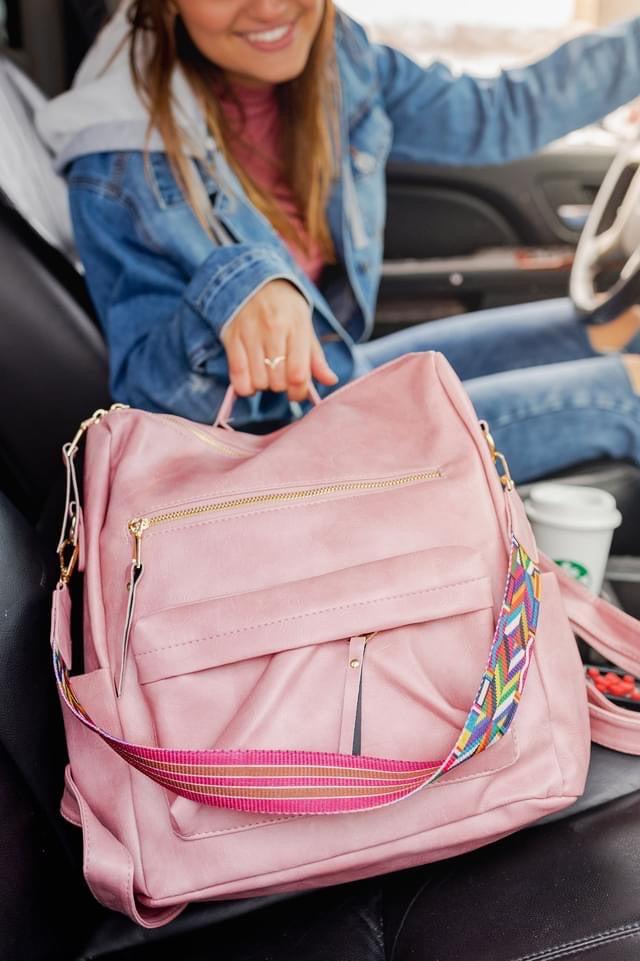 The Chloe Convertible Backpack - Blush