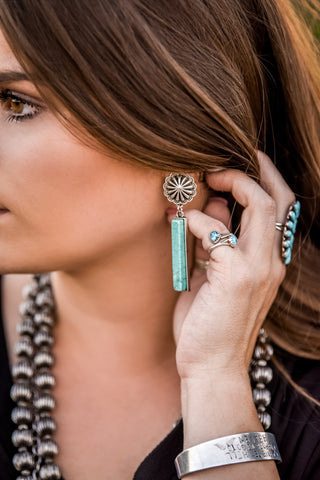 The Newport Turquoise Earrings