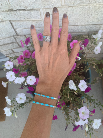 The Sandy Slim Turquoise Cuff