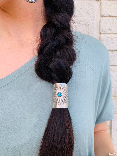 Turquoise Hair Slides - Large - Triangle T Boutique
