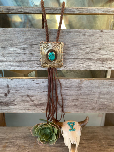 The Outlaw Bolo Necklace - Brown