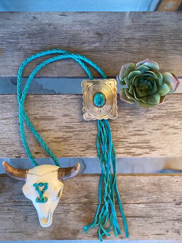 The Outlaw Bolo Necklace - Turquoise