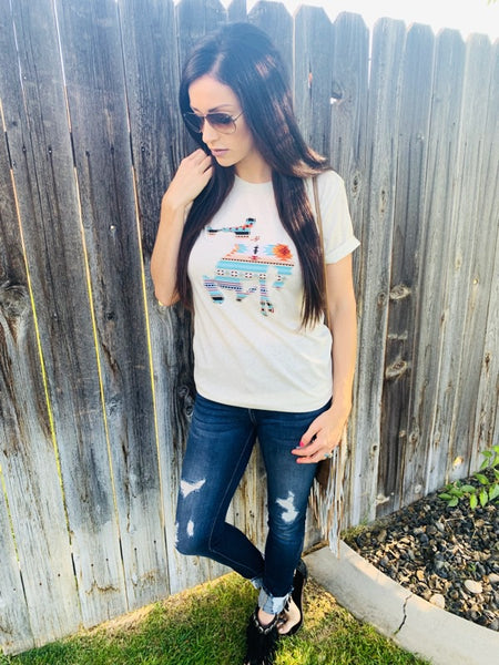 Hot Bucking Boyfriend Tee - Triangle T Boutique