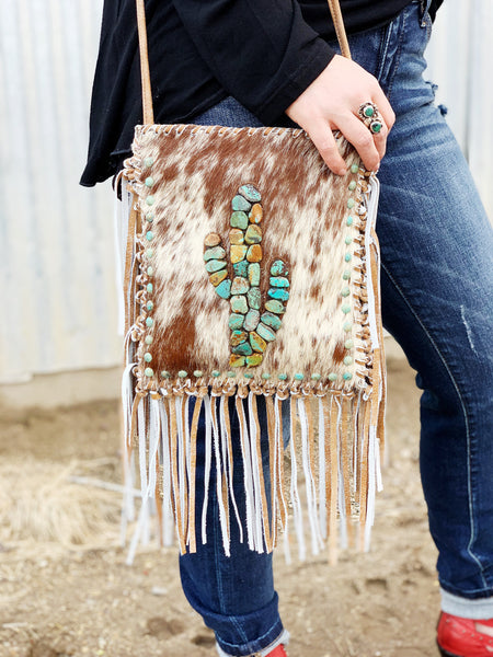 The Sonora Desert Cowhide Crossbody Purse - Triangle T Boutique