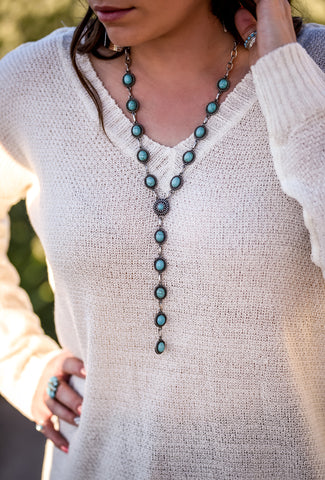 The Jane Turquoise Drop Necklace