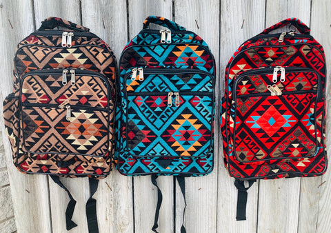 The Cross Country Aztec Backpack - Triangle T Boutique