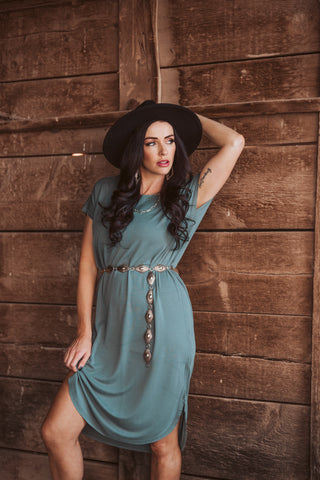 The Babe Maxi Dress - Teal