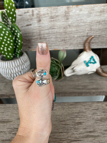 The Kendra Wrap Ring - Turquoise