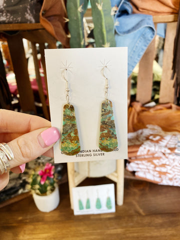 The Wild Card Slab Earrings - Small