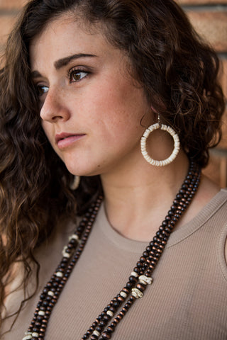 The Pamela Hoops - Ivory