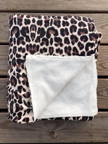 The Leopard Sherpa Blanket