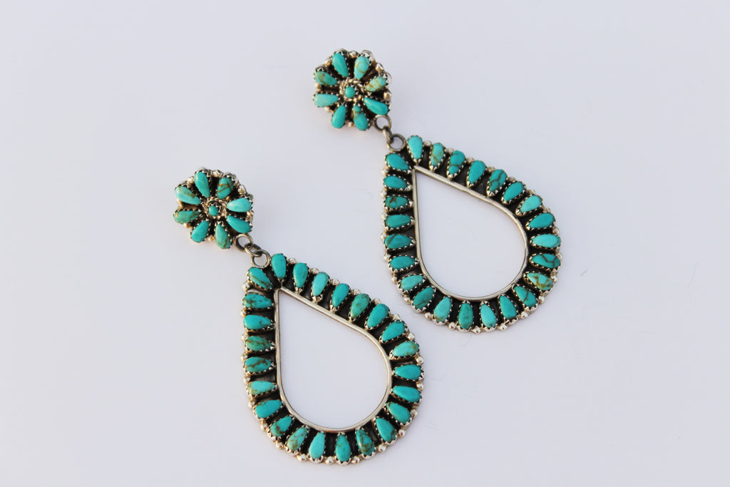 Authentic Turquoise Teardrop Earring - Triangle T Boutique