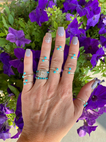 The Mini Shaley Wrap Ring - Turquoise
