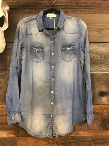 The Beth Chambray Blouse