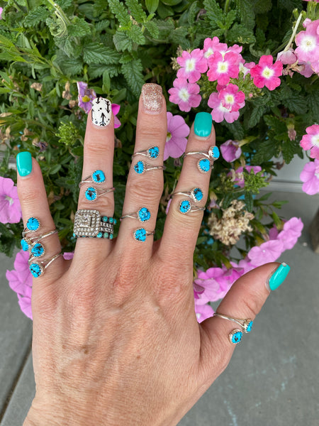 The Shaley Wrap Ring - Turquoise