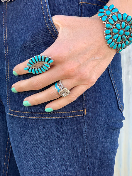 Authentic Turquoise Ring - Large - Triangle T Boutique