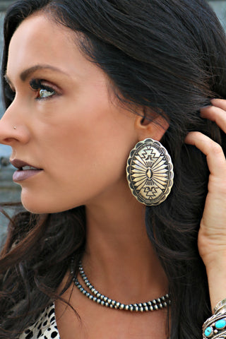 South of the Border Concho Earring - Triangle T Boutique
