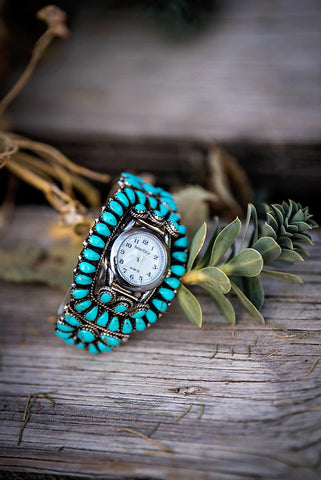 The Time Teller Turquoise Cuff